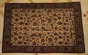 Magnificent 1900 S Persian Isfahan Manchester Wool Rug Must See