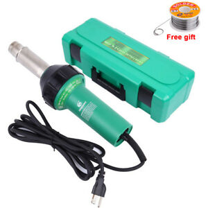 1600w Hot Air Torch Plastic Welder Heat Gun Pistol 4 Nozzle Rods Heavy Duty Case