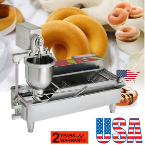 Commercial Automatic Donut Maker Doughnut Machine Wide Oil Tank 3 Sets Bake Mold