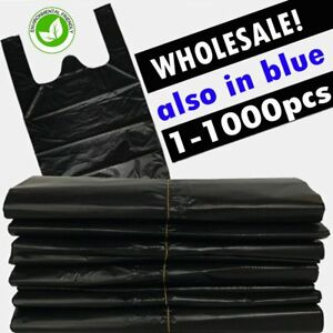 Plastic T shirt Bags With Handles Durable 1 1000pcs Shopping Bags Us Shipping As
