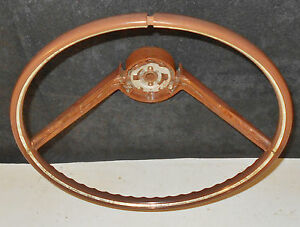 1965 1966 Ford Thunderbird Landau Convertible Original Wood Grain Steering Wheel