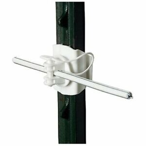Gallagher G682134 20 pack T post Universal Electric Fence Insulator White