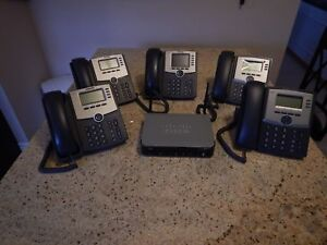 Complete Voip Small Business Cisco Pbx System W 5 Phones 1 Month Free Service