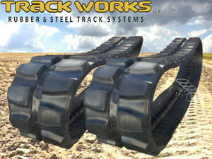 Pair Of 2 Tracks Cat 304ccr 305ccr Rubber Tracks 400x72 5x76