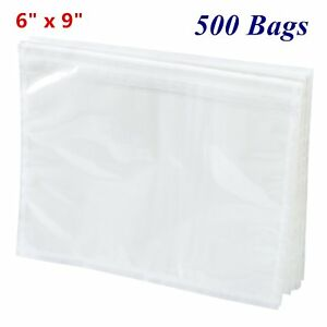 500 6 X 9 Clear Packing List Invoice Pouches Shipping Mailing Envelopes Adhesive