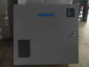 Westinghouse 225 amp 600v Manual Transfer Switch 3 Wire Aux W Contact Closures