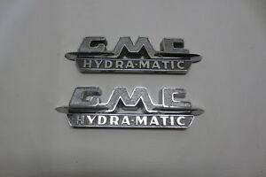 1955 1956 1957 Gmc Truck Fender Gmc Hydramatic Emblems Badged Script Original