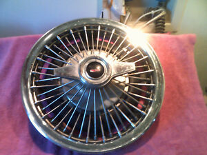 1964 Oldsmobile Cutlass F85 Genuine Factory Gm Wire Spinner Hubcap Free Shipping