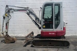 2014 Takeuchi Tb138 Fr Full Rotation Mini Excavator Digger 1998 Hrs 8316 Lbs