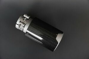 Carbon Fiber Matte Stainless Steel Exhaust Tip S For Bmw M Series