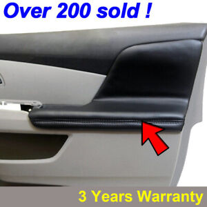 2pcs Door Armrest Replacement Cover Leather For Honda Odyssey 2011 2017 Black