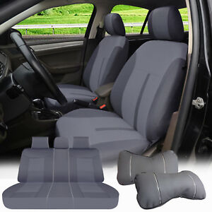 Full Car Seat Covers Semi Custom 2 Pillows Compatible To Toyota 1618 Gray