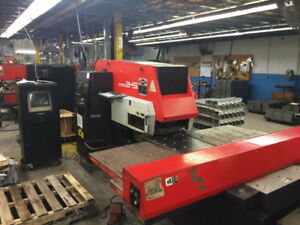 22 Tons 40 Thrt Amada Aries 245 Cnc Turret Punch Press