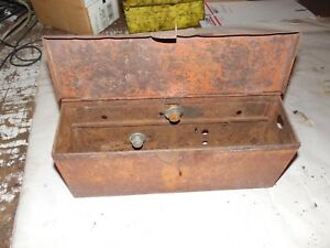 Allis Chalmers Wd 45 Farm Tractor Tool Box Assembly minor Rust Damage
