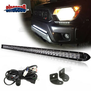 30 150w Slim Led Light Bar Lower Bumper Grille wiring For Toyota Tundra Tacoma
