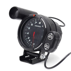 12v Tachometer Gauge Led 3 5 Auto Meter With Shift Light stepping Motor Rpm Hot