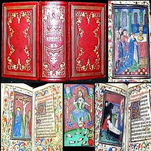 1460 Book Of Hours Of The Virgin Mini Illuminated Manuscript Bible Rome Jesus