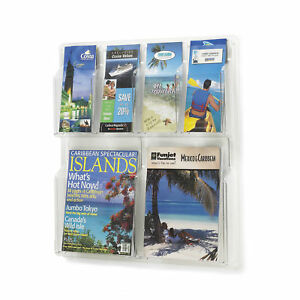 Office Accessories Clear Magazine Racks Reveal 2 Magazine And 4 Pamphlet Display
