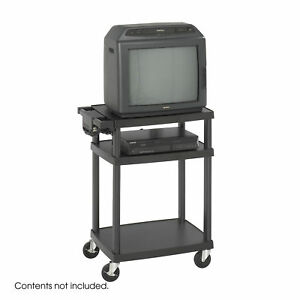 Conference Room Furniture Adjustable Heavy Gauge Plastic Av tv Cart
