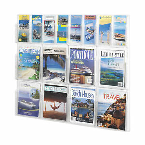 Office Accessories Clear Magazine Racks Reveal 8 Magazine And 8 Pamphlet Display