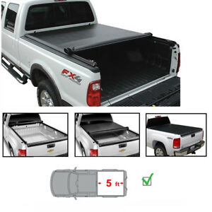 5 For 05 15 Toyota Tacoma Fleetside Bed Soft Vinyl Lock Roll up Tonneau Cover