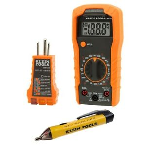 Electrical Test Kit Acdc Manual Ranging Multimeter Non Contact Receptacle Tester
