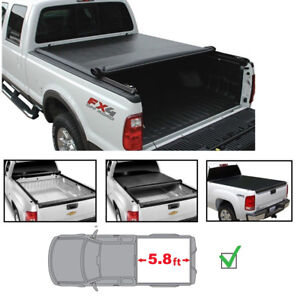 5 8 Tonneau Cover For 07 13 Silverado sierra 1500 New Body Soft Blk Roll up Bed