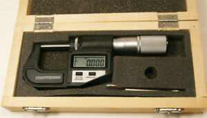 Craftsman 0 1 Electronic Digital Outside Micrometer Super Clean