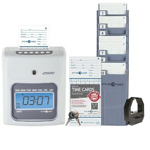 Best Digital Employee Time Clock Payroll Recorder Printer Punch In System Office