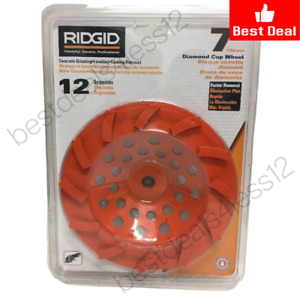 new Ridgid 7 Orange 12 segment Diamond Cup Grinding Wheel Taw7012l1