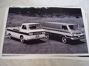 1964 Chevrolet Corvair Pickup An Van 11 X 17 Photo Picture