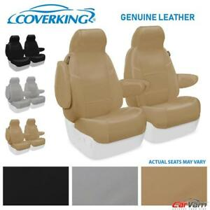 Coverking Genuine Leather Front Custom Seat Covers For 1994 1998 Saab 900