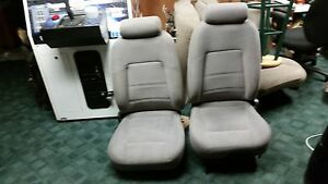 Mustang Bucket Seats Light Gray Cloth Rare Driver Power