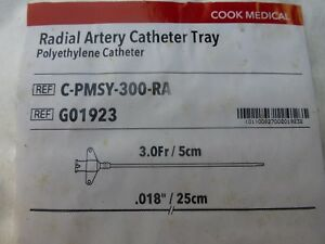 Cook Medical Radial Artery Catheter Tray G01923 C pmsy 300 ra For Practice Only