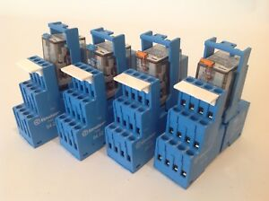 lot Of 4 2 Finder Type 94 02 2 A 94 04 Relay 24vdc 10a 250v