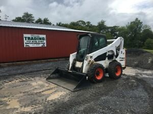 2013 Bobcat S750 Skid Steer Loader W Cab 2 Speed New Tires And Wheels