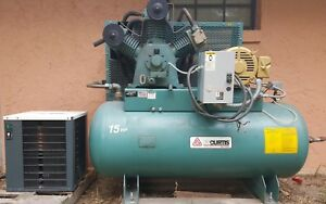 Fs Curtis Air Compressor 15 Hp 175 Psi 120 Gal Ultra 3 Phase Refrigerant Dryer