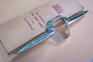 1956 Nos Ford Customline Trunk Or Tailgate Chrome Emblem Retainer New Old Stock