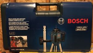 New Bosch 1 000ft Beam Self Leveling Rotary Laser Level Complete Kit Grl250hvck