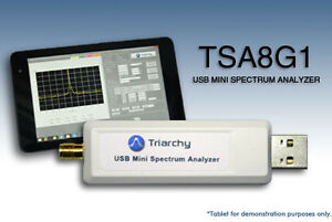 Usb Rf Spectrum Analyzer 8 15 Ghz Tsa8g1 By Triarchy Technologies