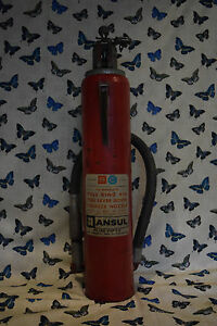 Vintage Ansul Dry Chemical Fire Extinguisher Plus Fifty Local Pick up Only
