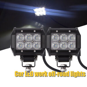 4inch 18w Cree Led Work Light Bar 4wd Offroad Spot Fog Atv Suv Driving Lamp New