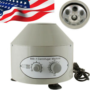 us Stock electric Centrifuge Machine Lab Medical Practice 110v 4000rpm 20mlx6