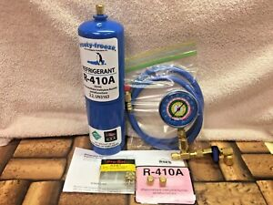 410a R410a Refrigerant Refill Kit Gauge Charging Hose Instructions Kit B