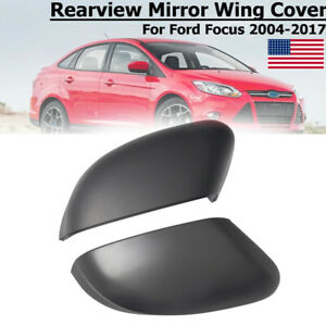Pair For Ford Focus Mk2 Mk3 Left Right Door Side Rearview Mirror Cover Caps New