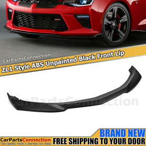 Zl1 Style Abs Front Bumper Lip For 2016 2017 2018 Chevy Camaro Ss Ground Effects