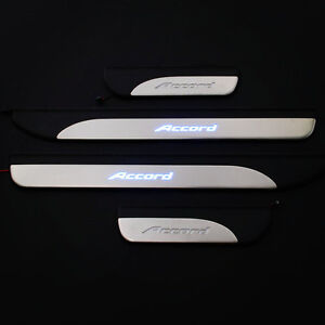 For Honda Accord 2014 2017 Illuminated Blue Led Door Sill Scuff Plates Trim 4dr