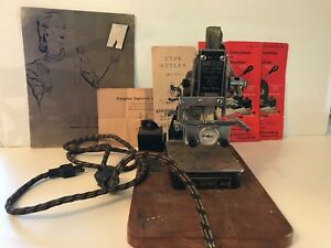 Kingsley Hot Foil Stamping Machine Huge Lot Of Type Foil And Accessories
