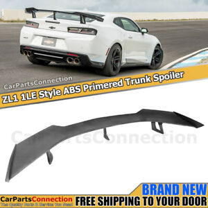 Eos Zl1 1le Style Abs Primered Black Rear Trunk Lid Spoiler For 16 17 18 Camaro