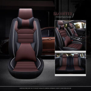 Suv Car 5 Seats Cover Universal Luxury Deluxe Coffee Protector Pillows 13pcs Kit